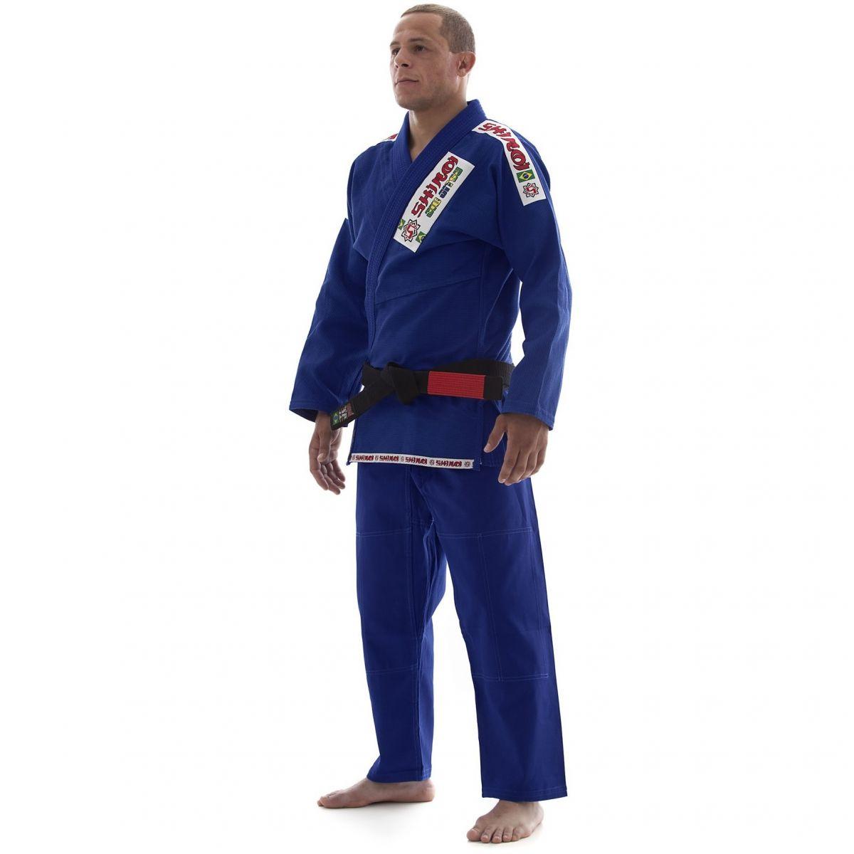 Kimono Jiu Jitsu - Trancado - Standart - Shiroi - Azul