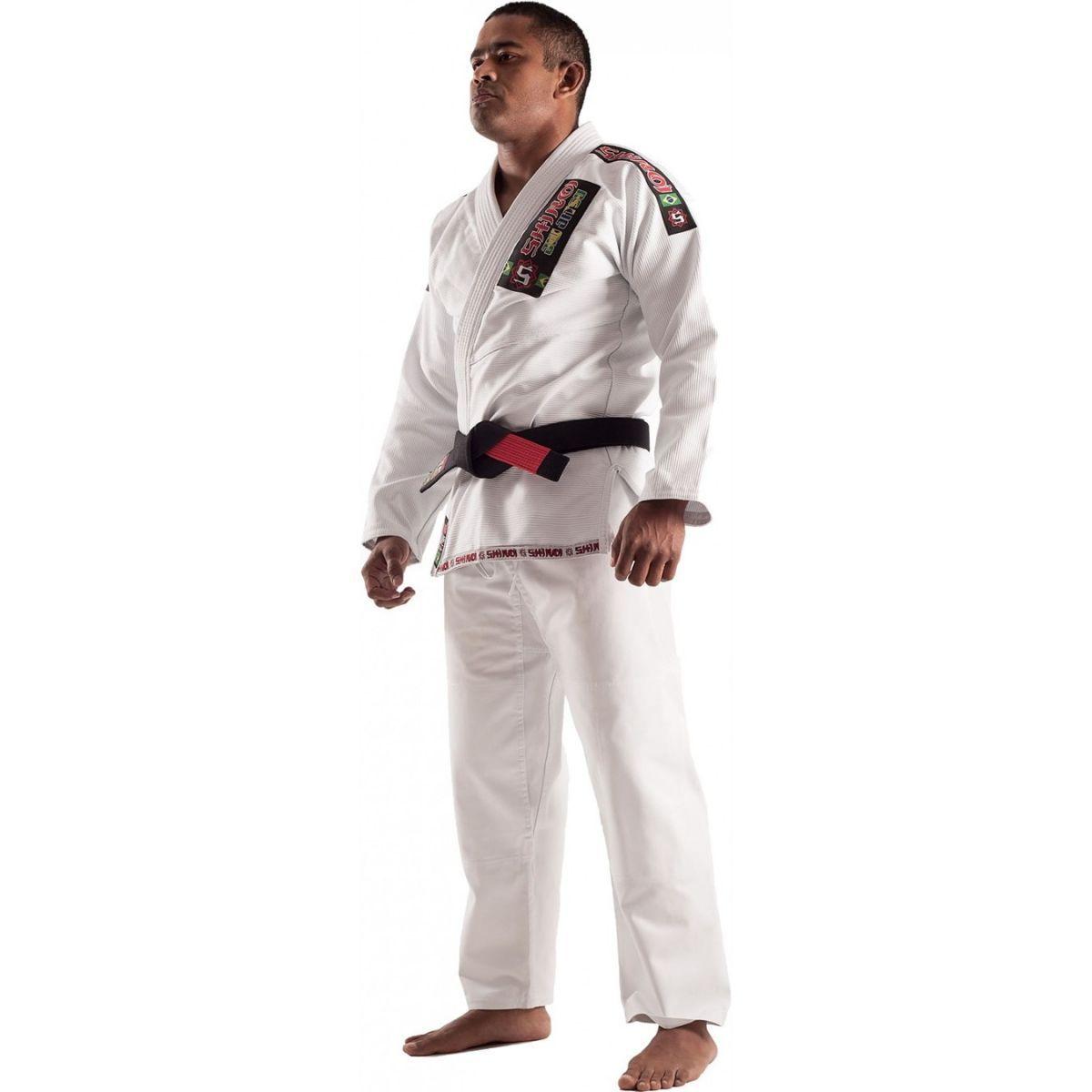 Kimono Jiu Jitsu - Trancado - Standart - Shiroi - Branco