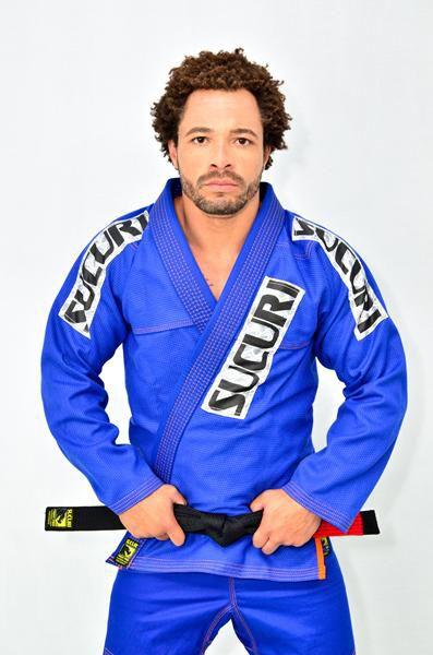 Kimono Jiu Jitsu Trancado - Sucuri Fight Pro - Azul  - Loja do Competidor