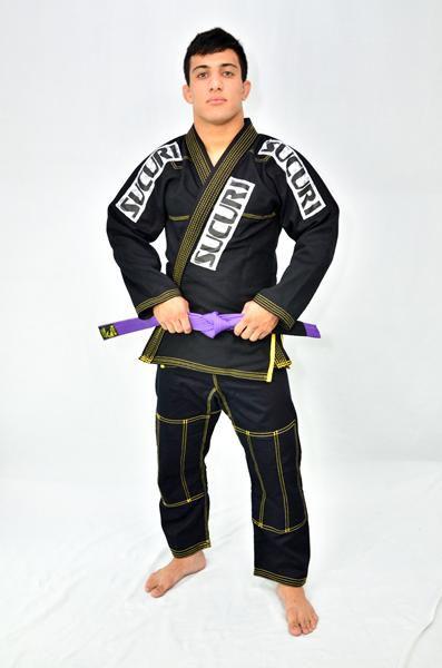 Kimono Jiu Jitsu Trancado - Sucuri Fight Pro - Preto  - Loja do Competidor