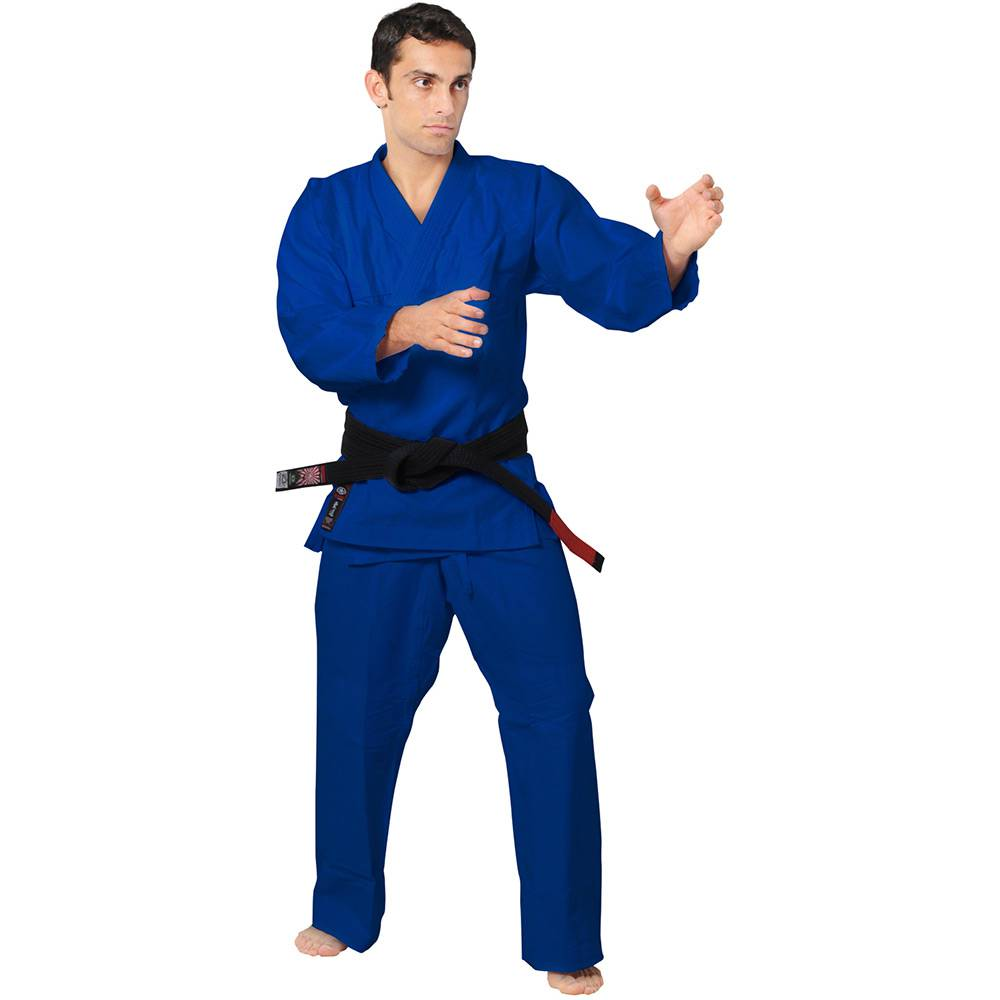 Kimono Judo Gi - Brim Reforçado - Azul - Adulto - Ippon