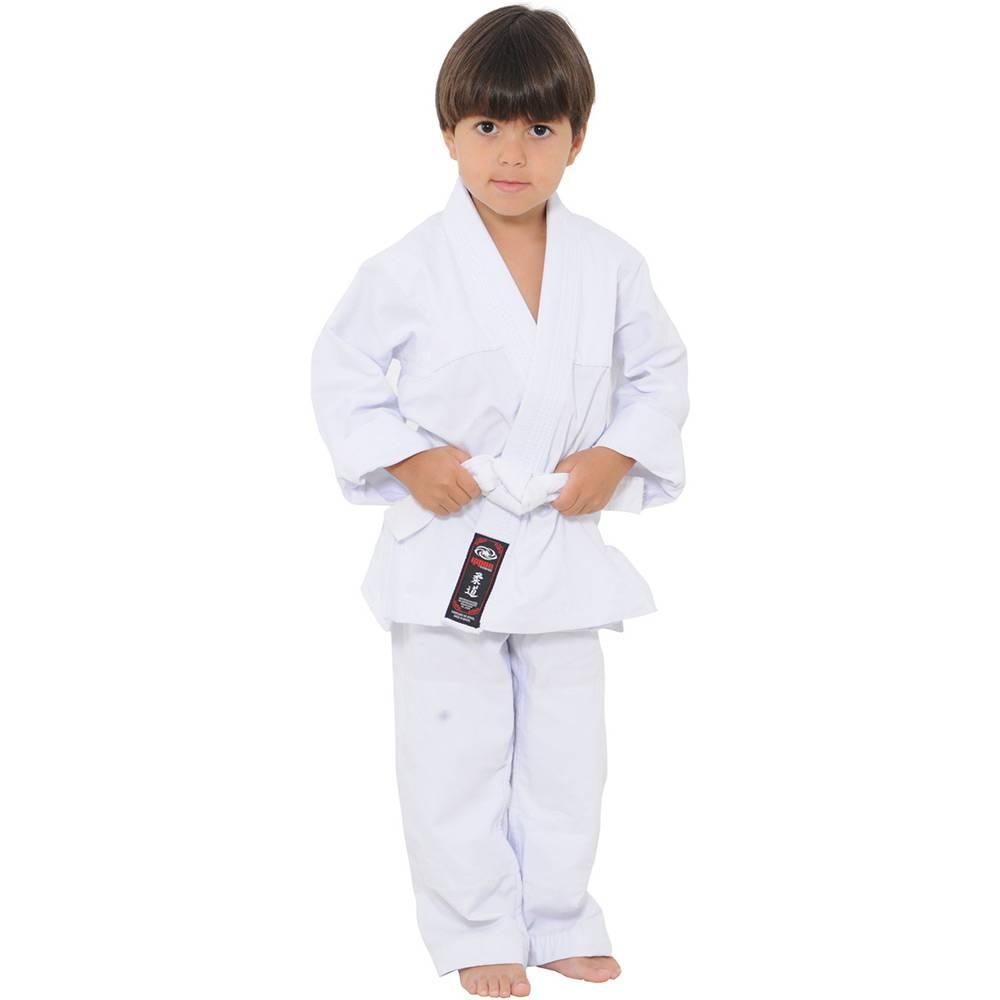 Kimono Judo Gi - Brim Reforçado - Branco - Infantil - Ippon -