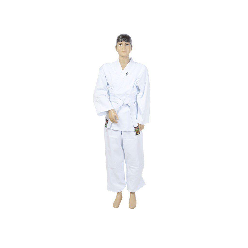 Kimono Judo Gi / Jiu-Jitsu - Reforçado- Infantil - Branco - Shiroi