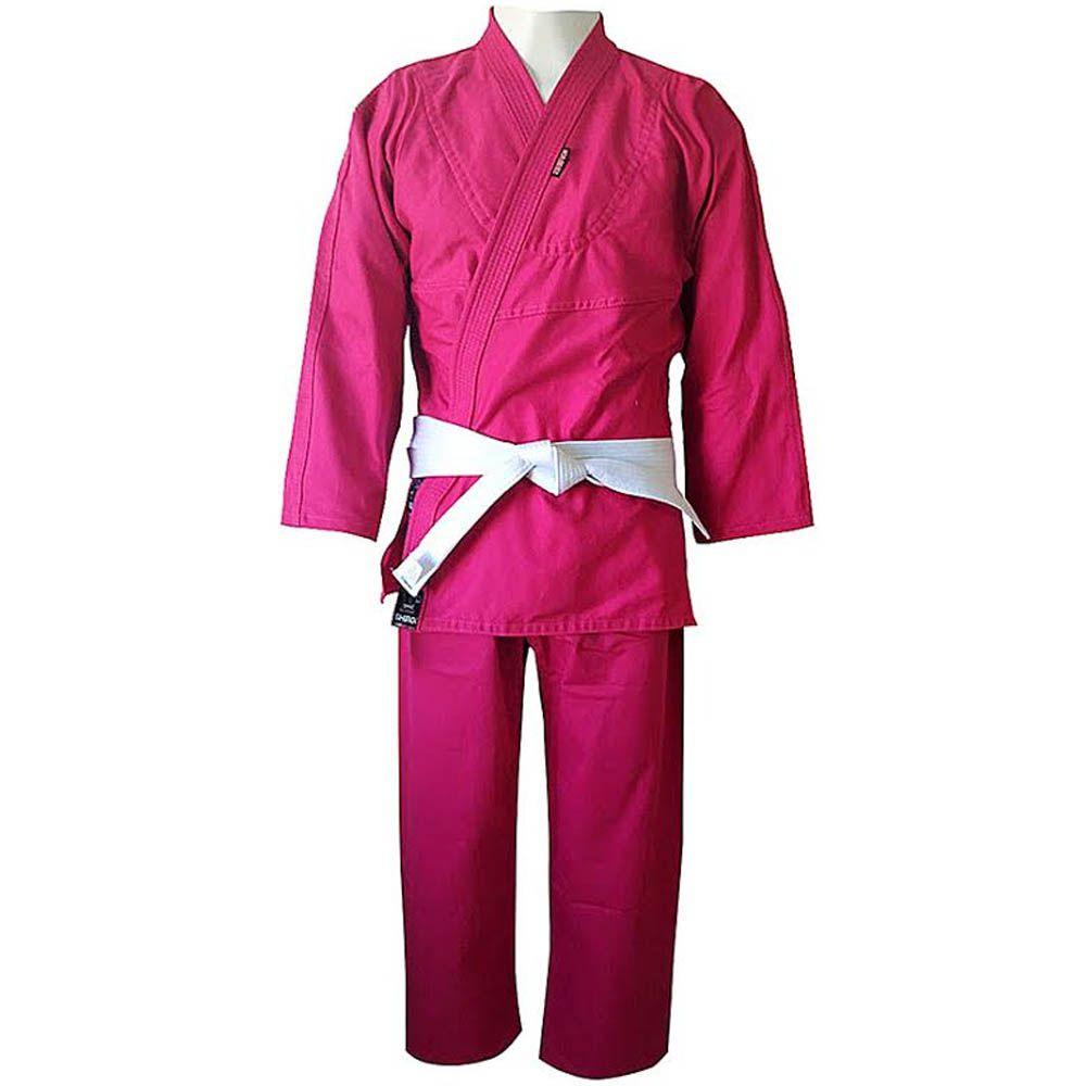 Kimono Judo Gi / Jiu-Jitsu - Reforçado- Infantil - Rosa- Shiroi -  - Loja do Competidor