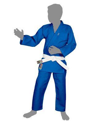 Kimono Judo Gi / Jiu-Jitsu - Reforçado- Infantil - Azul - Shiroi .