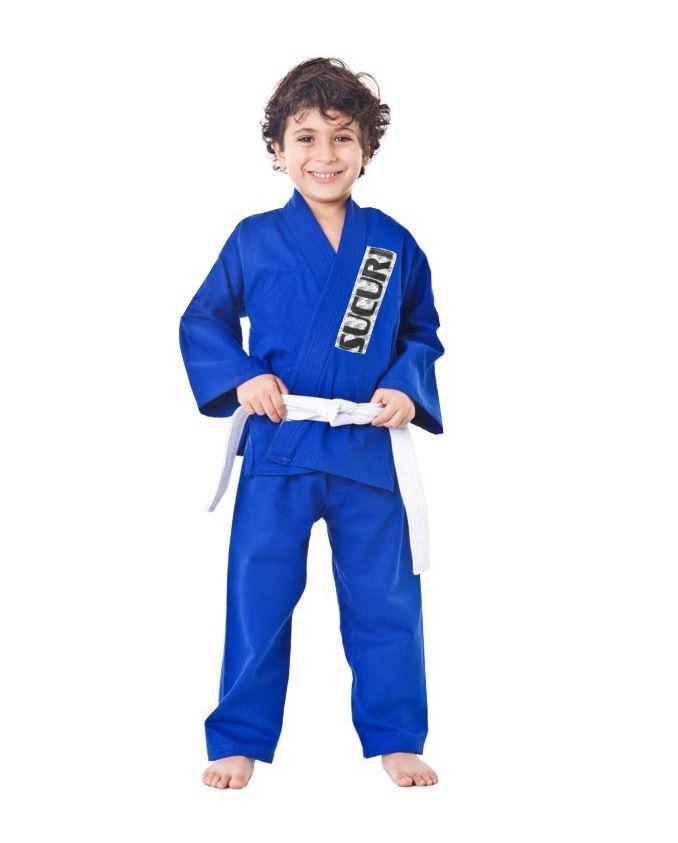 Kimono Judo Gi / Jiu-Jitsu - Reforçado- Infantil - Azul - Sucuri -