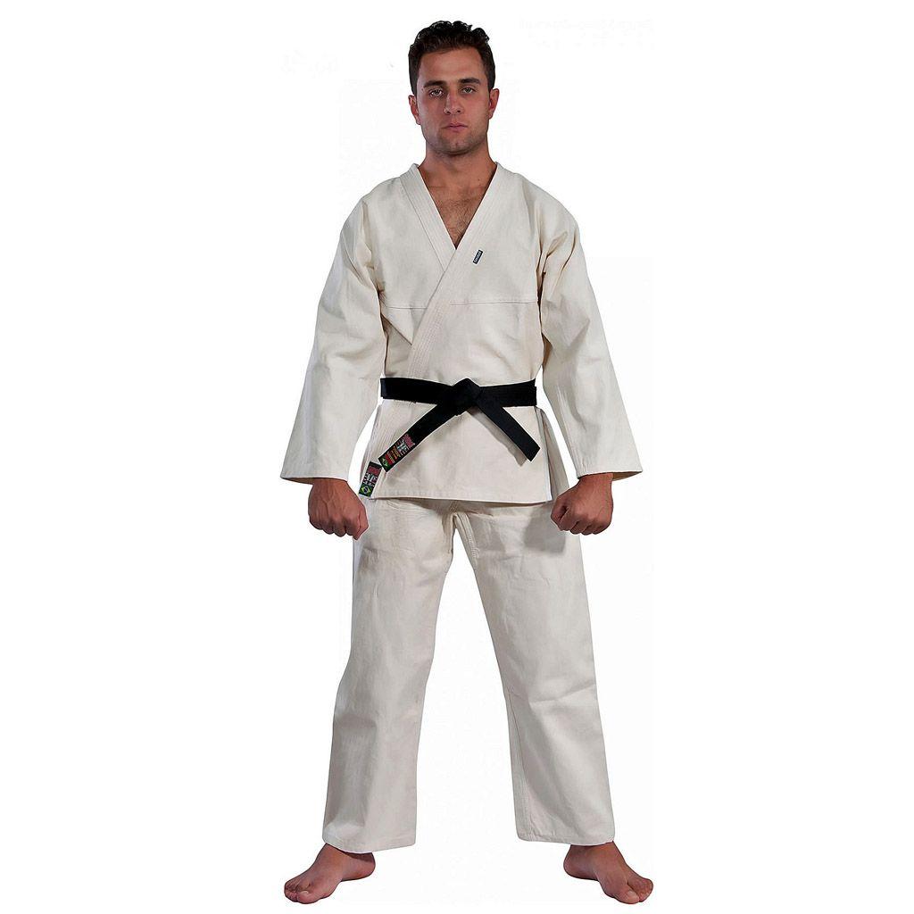 Kimono Judo  - Trançadinho - Adulto - Shiroi - Crú