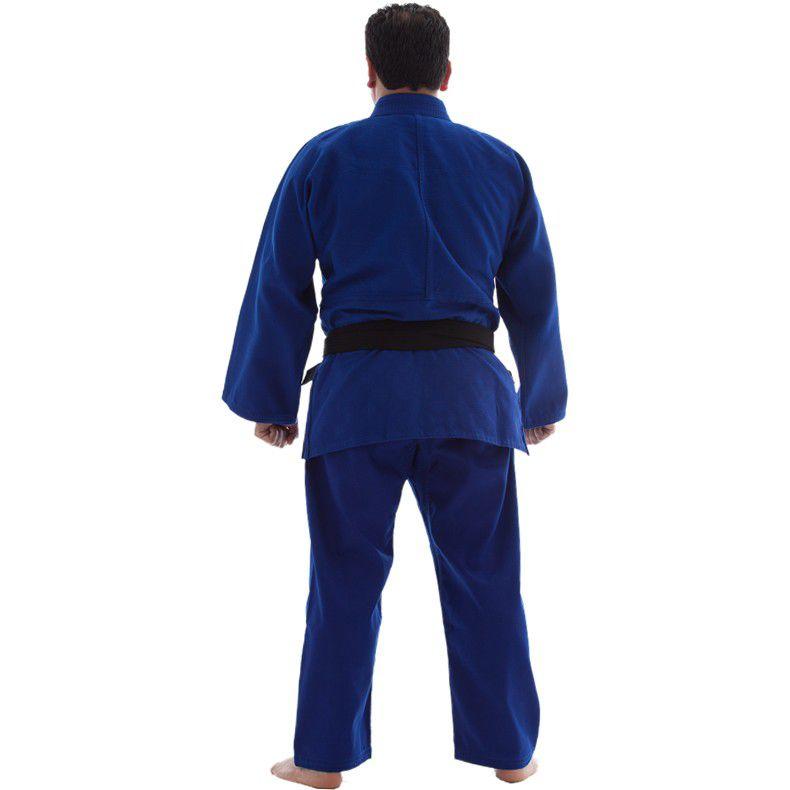 Kimono Judo - Trancado Medio - Shiroi - Azul  - Loja do Competidor