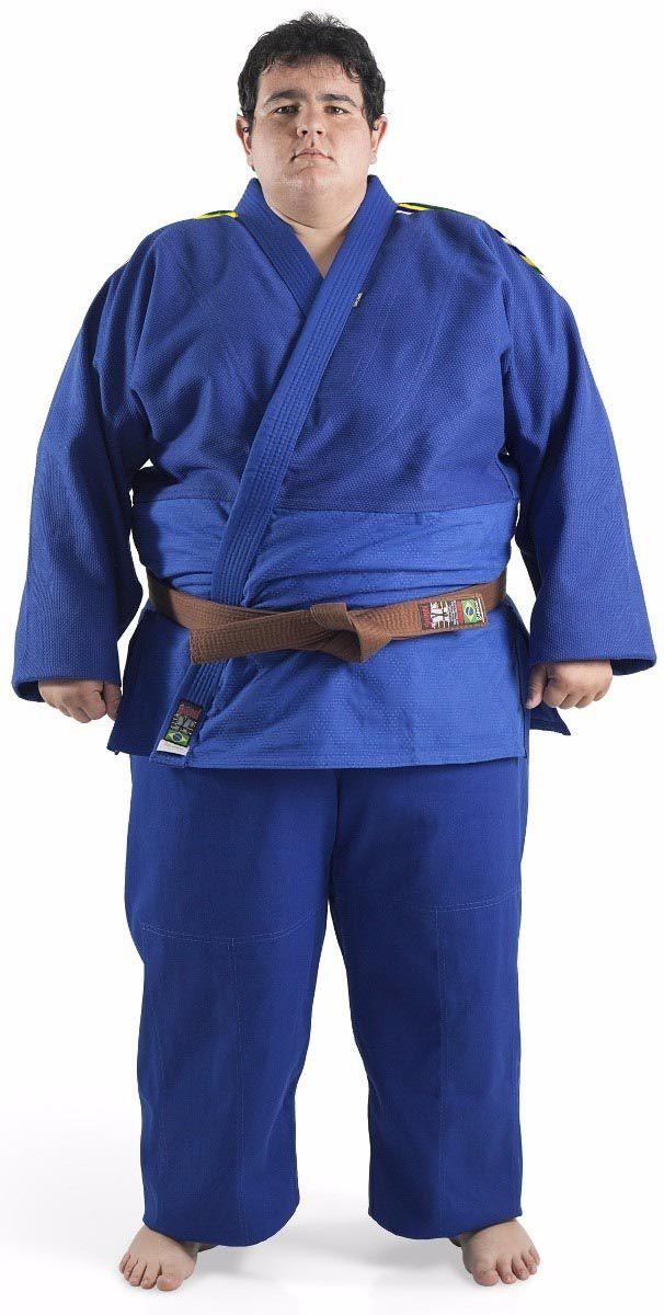 Kimono Judo - Trancado - Master - Brazilian Colors - Shiroi - Azul .