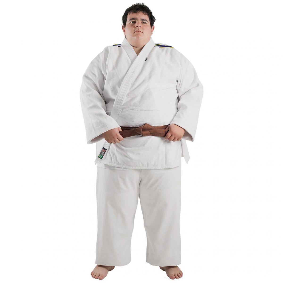 Kimono Judo - Trancado - Master - Brazilian Colors - Shiroi - Branco