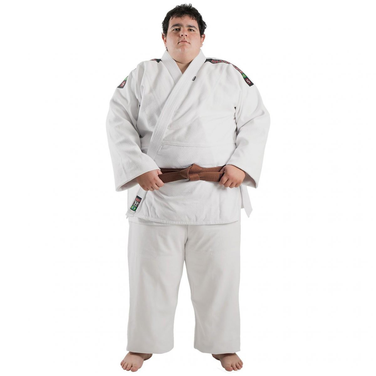 Kimono Judo - Trancado - Master - Shiroi - Adulto - Branco .