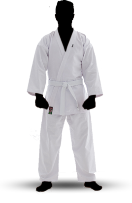 Kimono Karate Canelado - Branco - Adulto - Shiroi