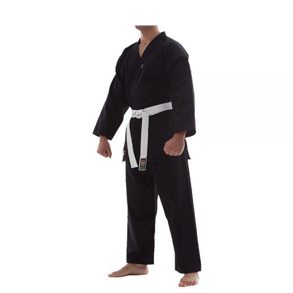 Kimono Karate / Hapkido / Ninjutsu Start - Preto - Adulto - Shiroi .  - Loja do Competidor