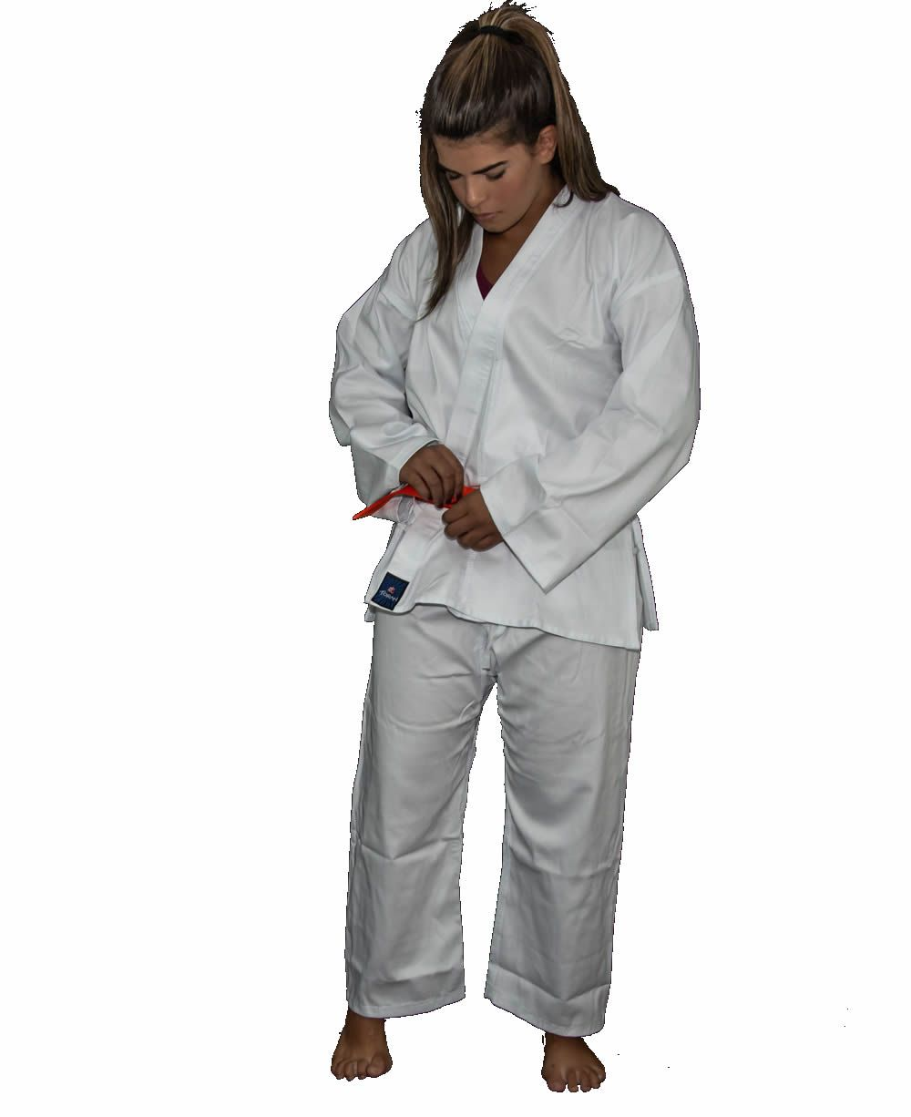 Kimono Karate KS Brim Light - Branco - Adulto - Torah