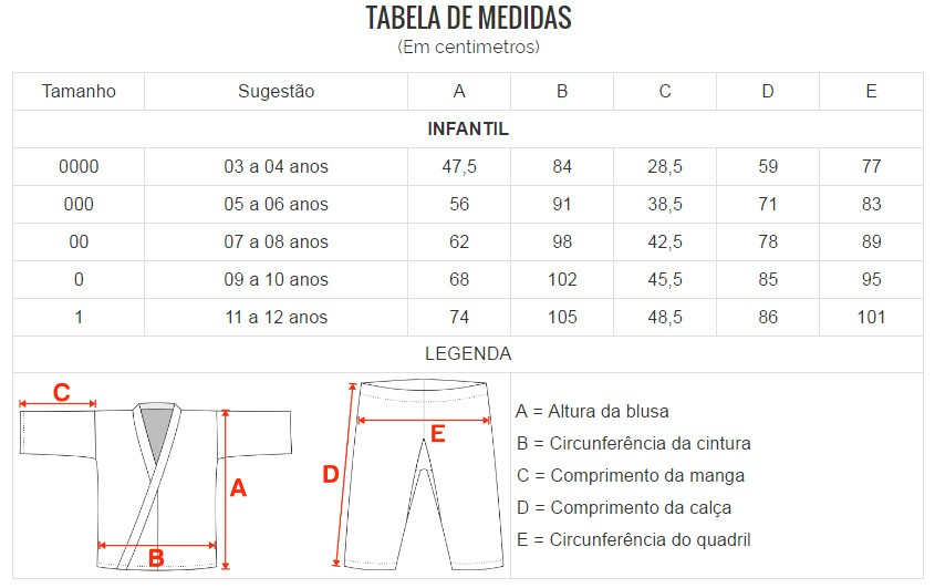 Kimono Karate Light - Branco - Infantil - Shiroi  - Loja do Competidor
