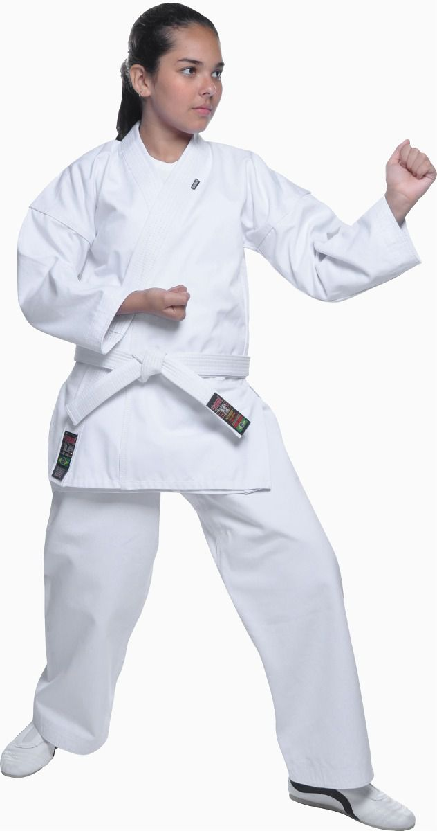 Kimono Karate - Medium Canvas - Branco - Infantil - Shiroi - Loja do Competidor