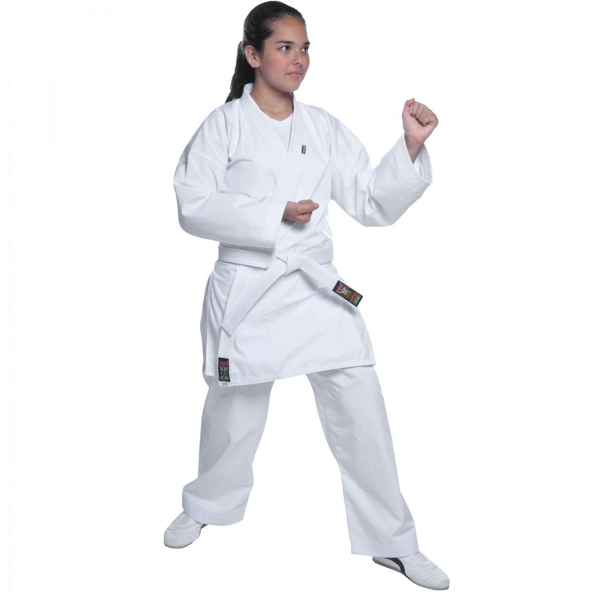 Kimono Karate - Microfibra - Branco - Adulto - Shiroi