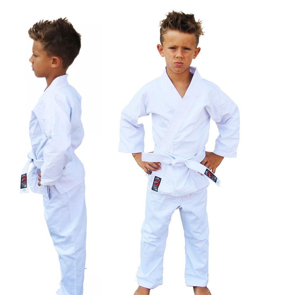 Kimono Karate Sarja Reforçado- Branco - Infantil - Naja