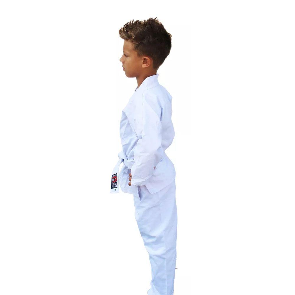 Kimono Karate Sarja Reforçado- Branco - Infantil - Naja -  - Loja do Competidor