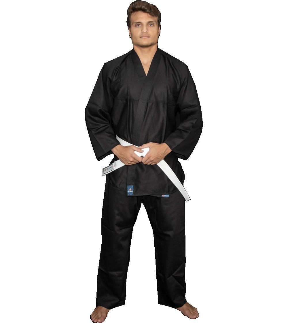 Kimono Kung Fu / Hapkido / Ninjutsu - Adulto - Preto - Unissex - Torah