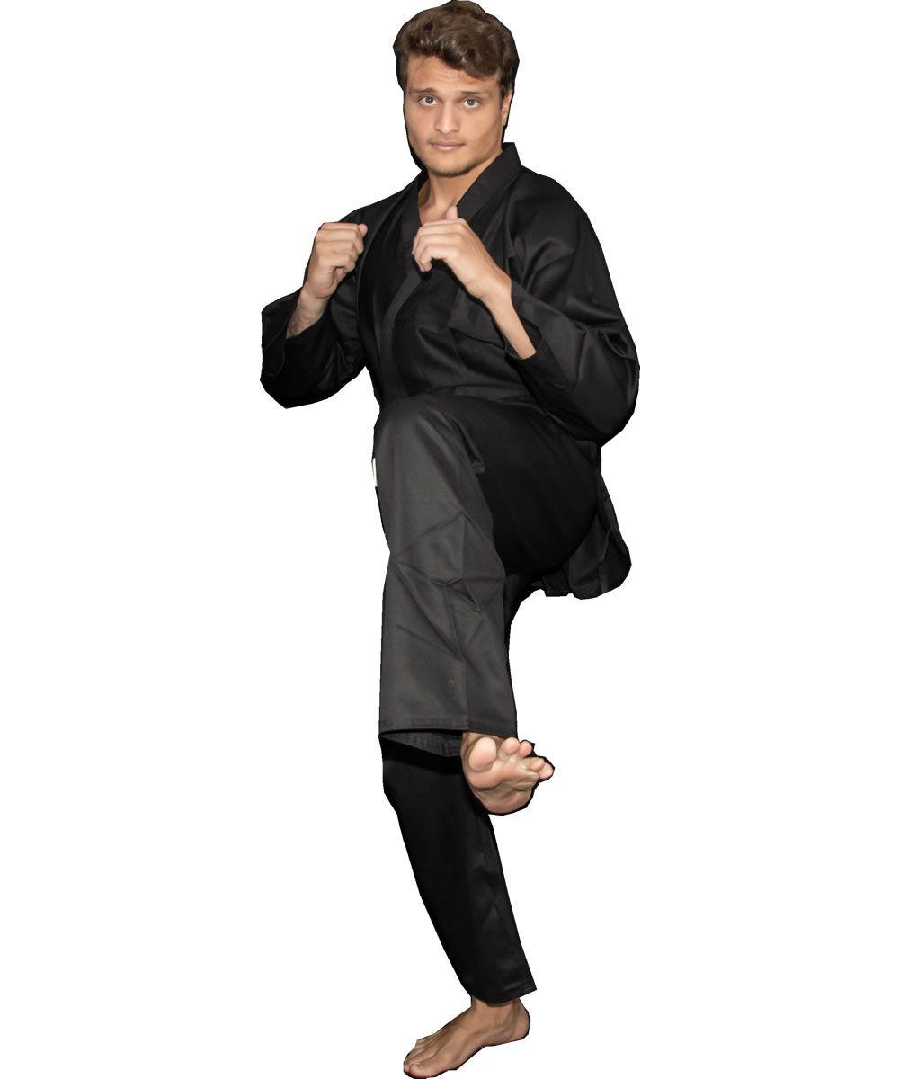 Kimono Kung Fu / Hapkido / Ninjutsu - Adulto - Preto - Unissex - Torah  - Loja do Competidor
