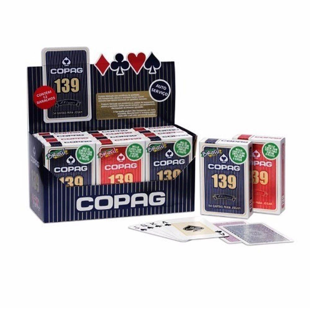 Kit 12 Baralhos Cartas de Truco Poker - Copag 139 - Couchê - Copag