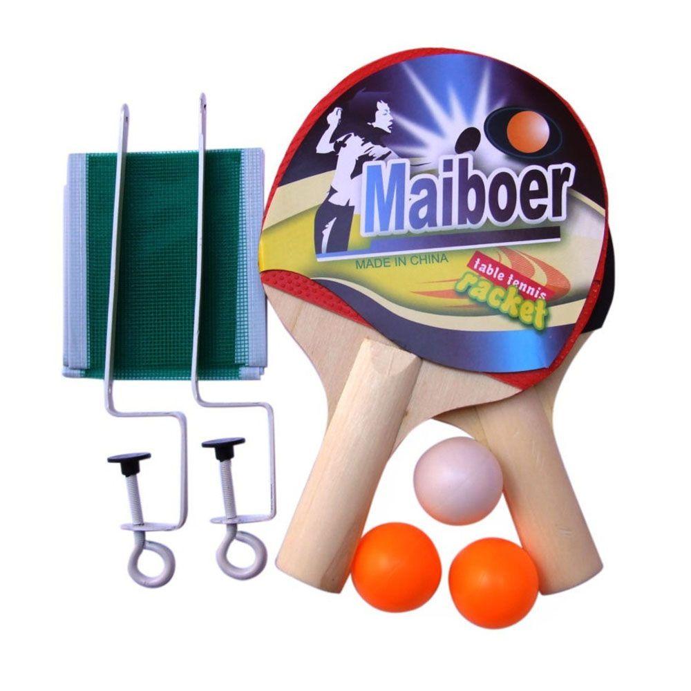 6a18b6a8f Kit 2 Raquetes Tenis de Mesa Ping Pong + 3 Bolas + Rede - Convoy -