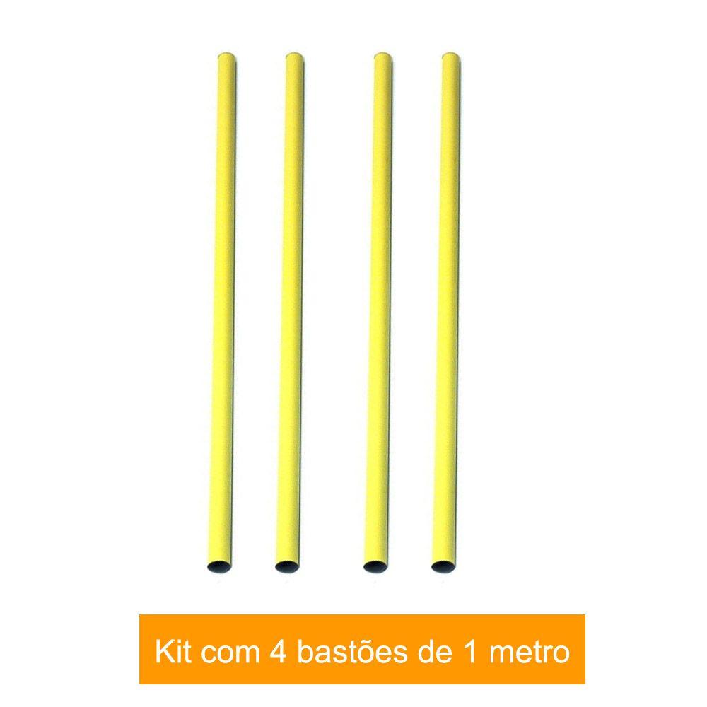 Kit 4 Barras / Barreiras para Treinamento Funcional - 1m- TRK