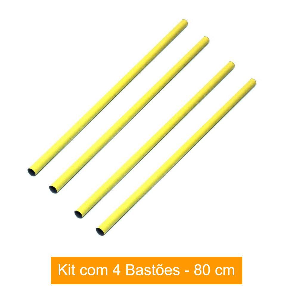 Kit 4 Barras / Barreiras para Treinamento Funcional - 80 cm- TRK