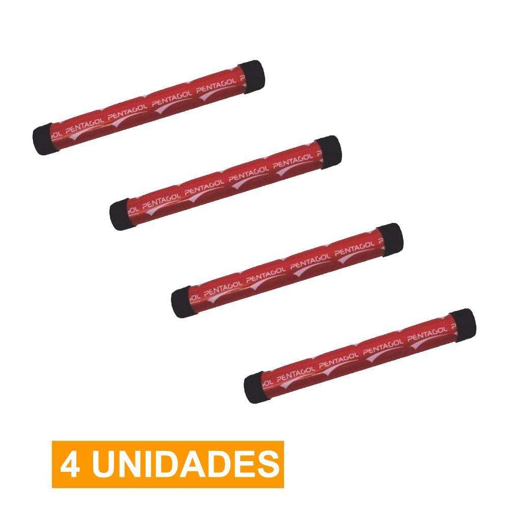 Kit 4 Unidades - Bastão de Revezamento - Atletismo - PVC-  30cm - Pentagol