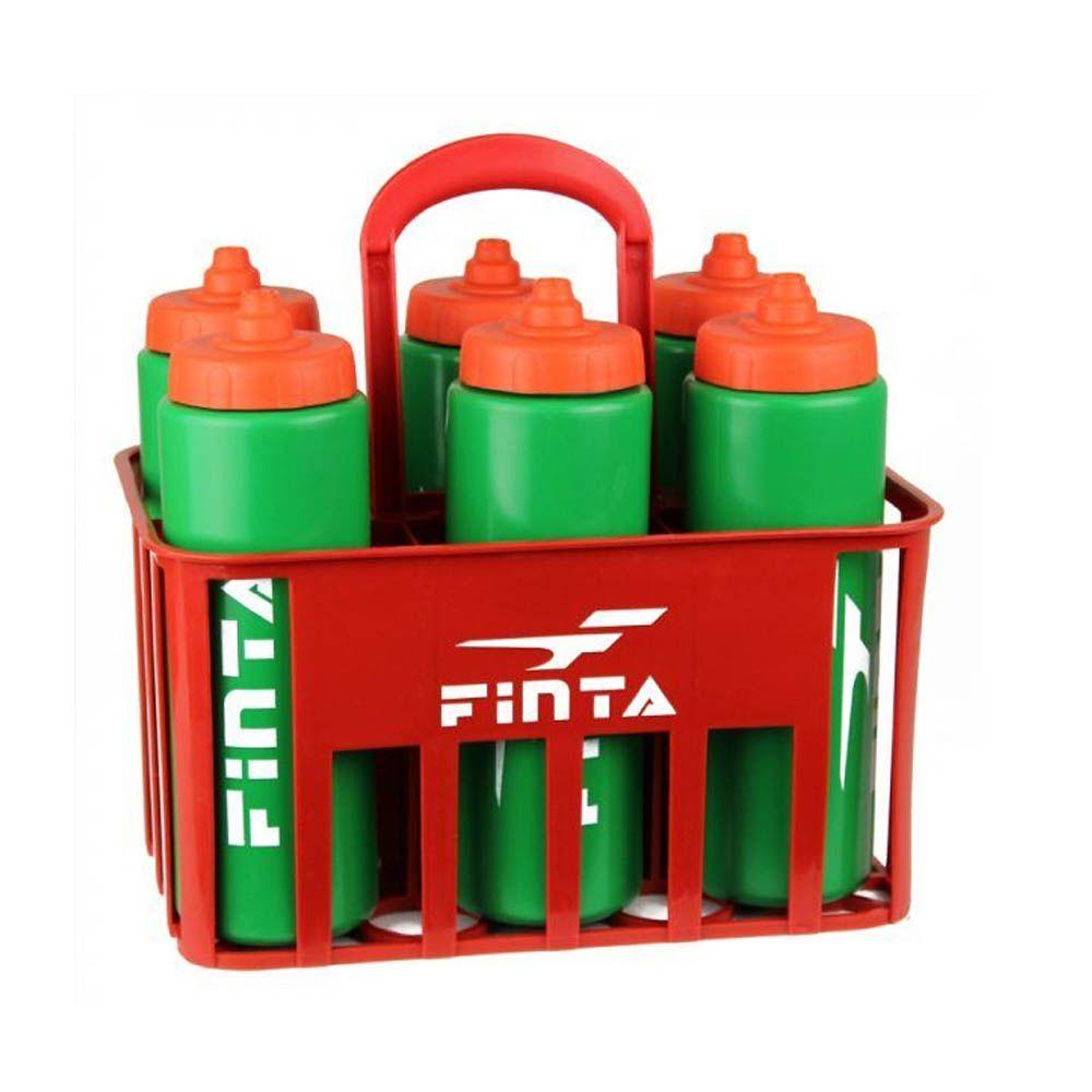 Kit Cesta 6 Squeeze + Suporte - 1 Litro - Futebol / Artes Marciais / Vôlei - Finta