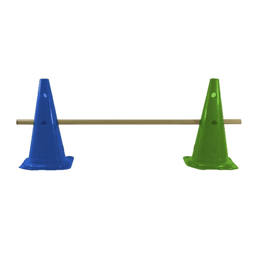 Kit Agilidade com Barreira - 8 Cone 50cm + 4 Barras - TRK  - Loja do Competidor
