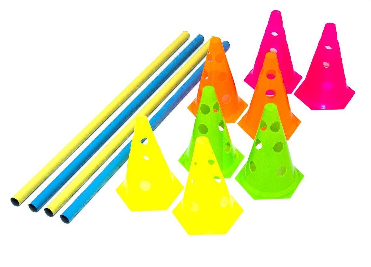 Kit Agilidade com Barreira - 8 Cones + 4 Barras - TRK