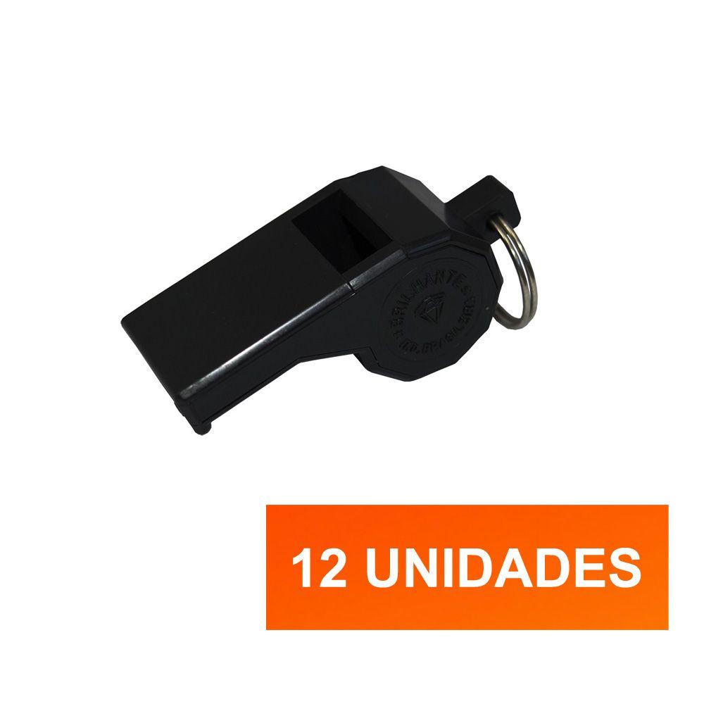 Kit Apito de Plástico-  Grande - 12 Unidades - Pentagol  - Loja do Competidor