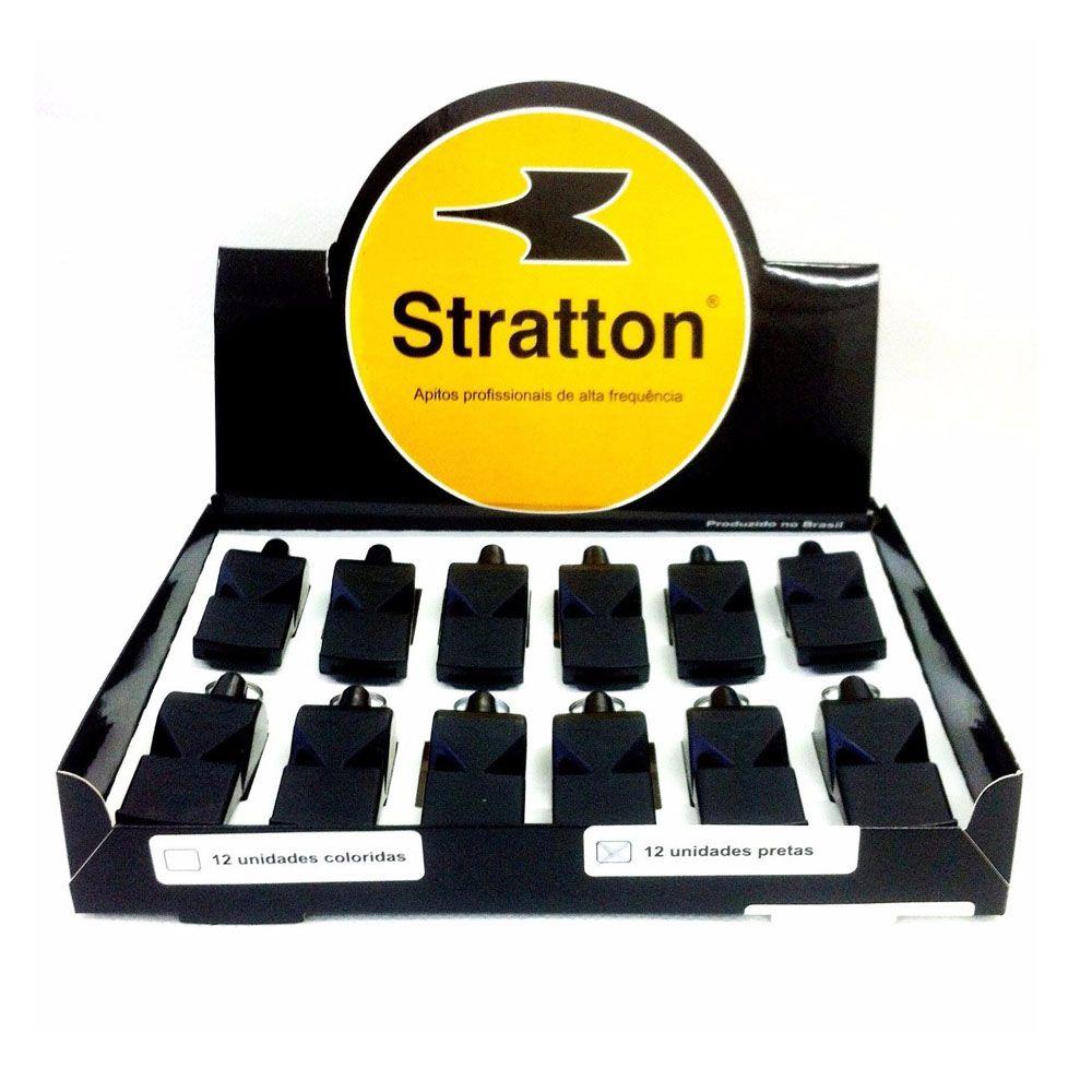 Kit Apito de Plástico-  Grande Stratton - Profissional - 12 unids  - Loja do Competidor