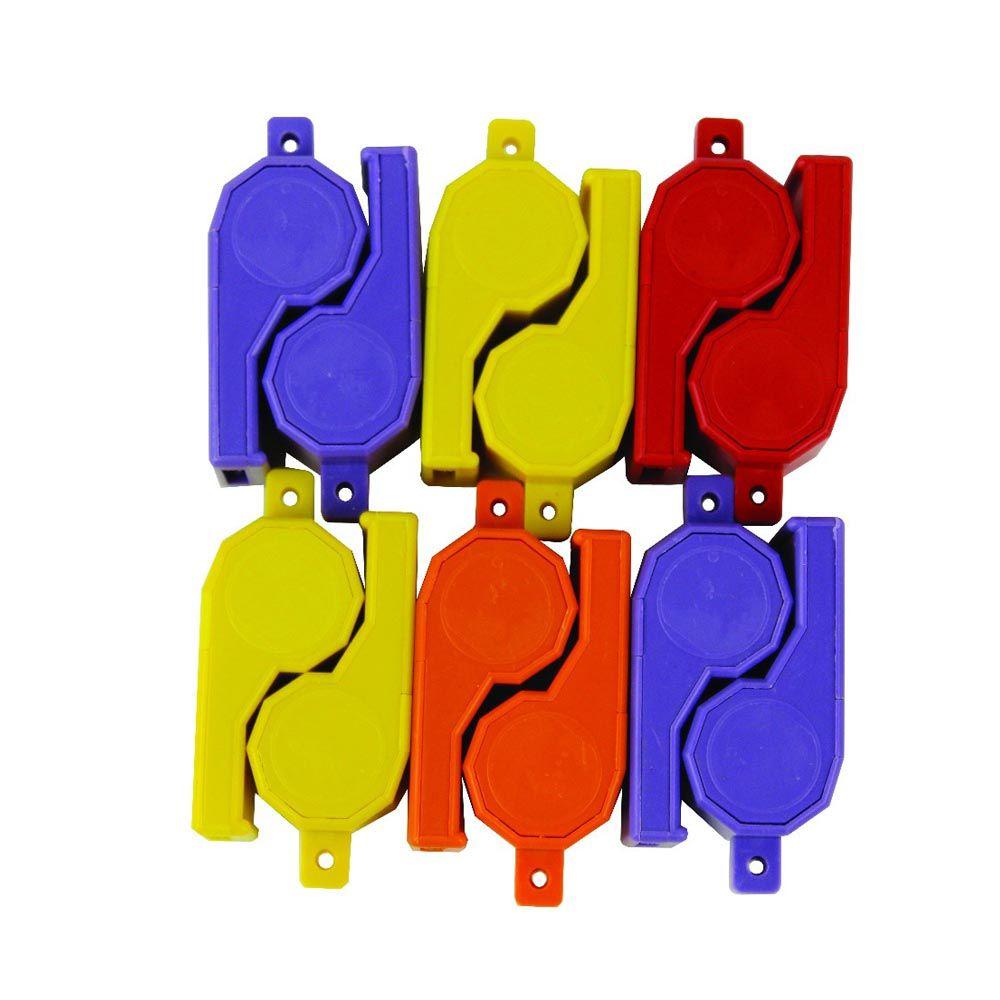 Kit Apito de Plástico-  Grande - Colorido -  12 Unids - Pentagol