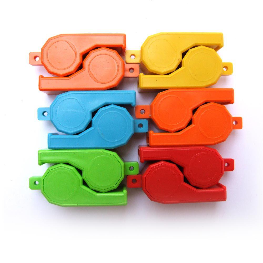 Kit Apito de Plástico-  Grande - Colorido -  12 Unids - Pentagol  - Loja do Competidor