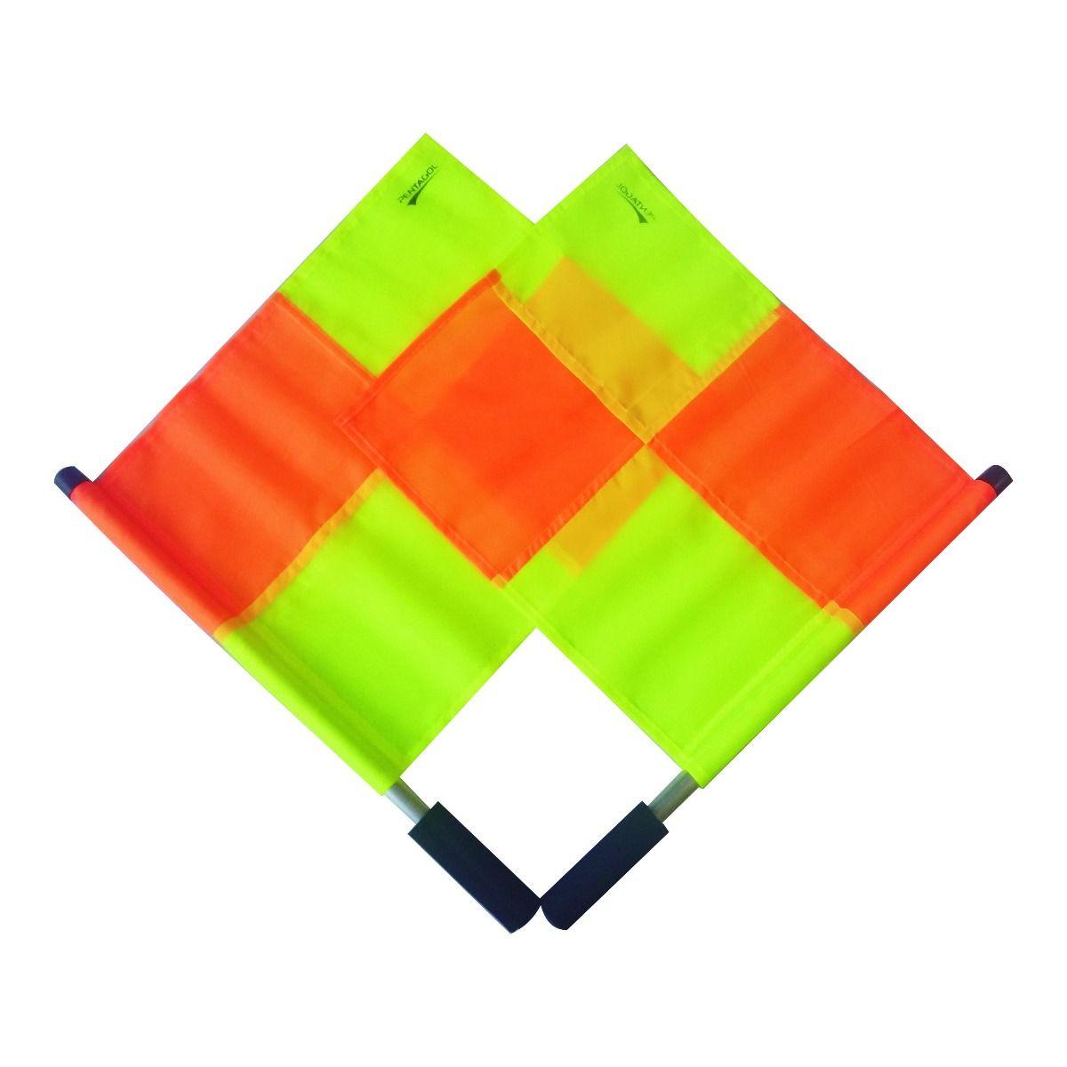 Kit Bandeira de Auxiliar Árbitro / Bandeirinha - 4 Gomos - Par - Pentagol  - Loja do Competidor