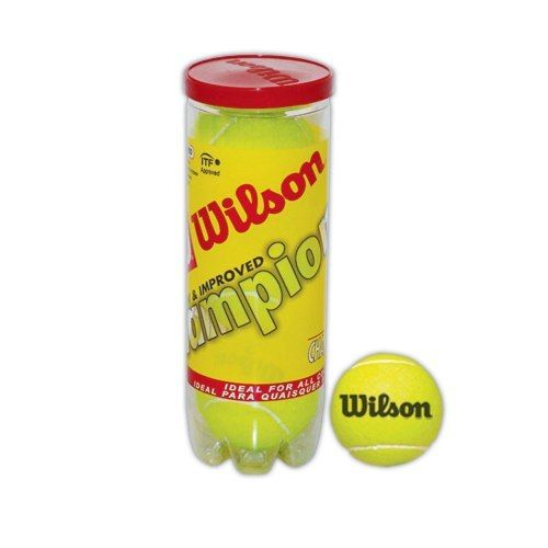 Kit Bola de Tênis - Wilson Championship- Amarela - 1 Tubo com 3 Unidades