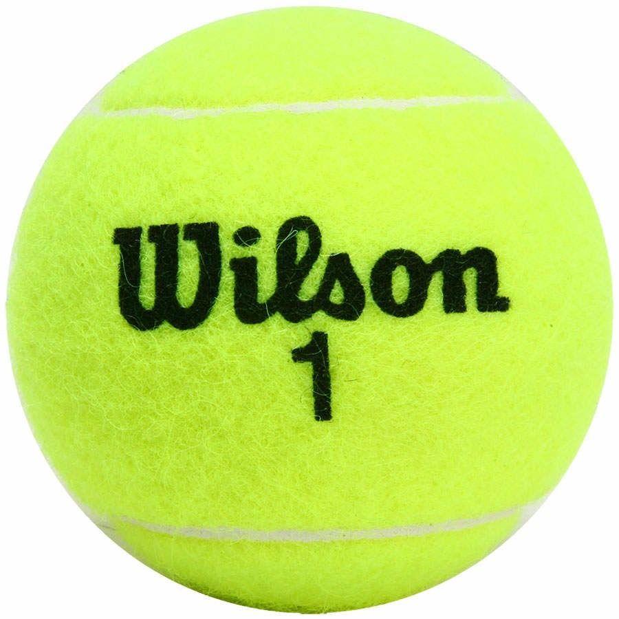 Kit Bola de Tênis - Wilson Championship- Amarela - 1 Tubo com 3 Unidades  - Loja do Competidor