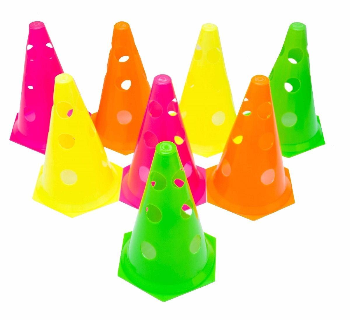 Kit com 4 Cones Perfurados para Circuito - 23 cm - TRK