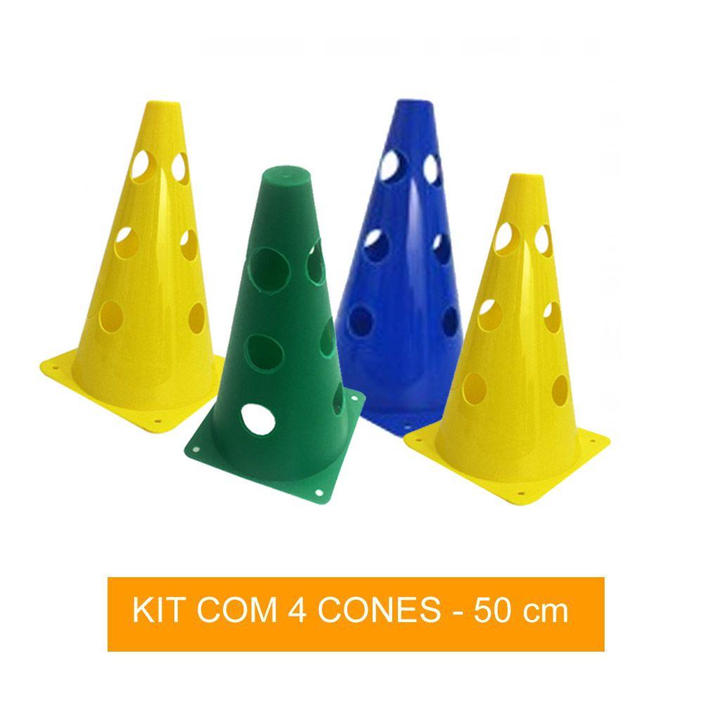 Kit com 4 Cones Perfurados para Circuito - 50 cm - TRK