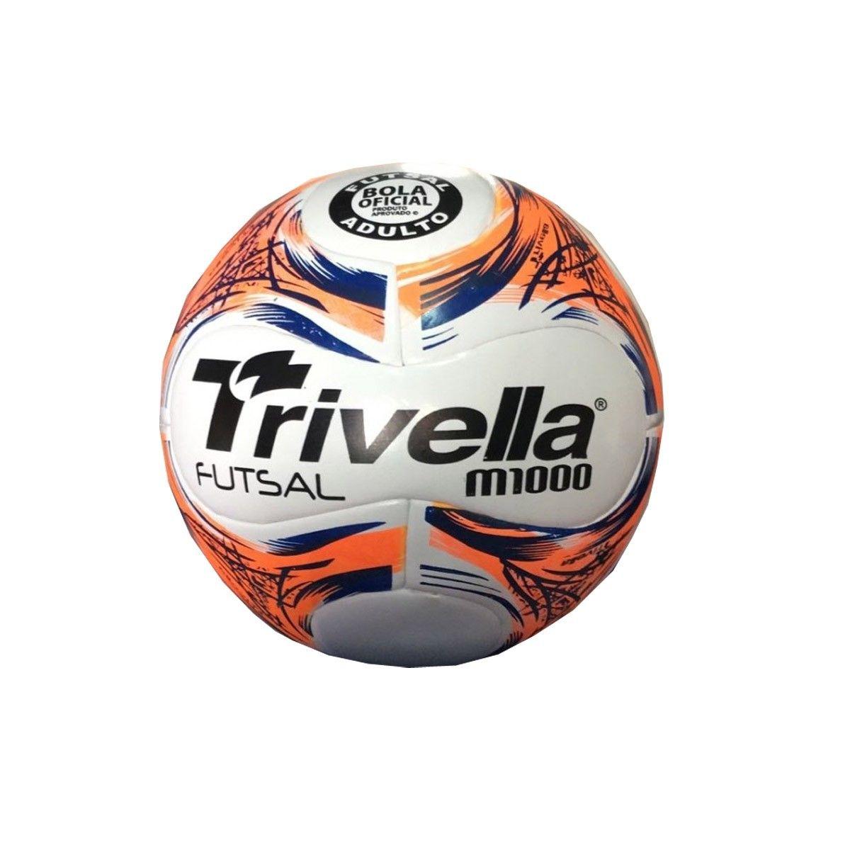 Kit com 5 Bola de Futsal Salão M1000 - 14 Gomos - Trivella
