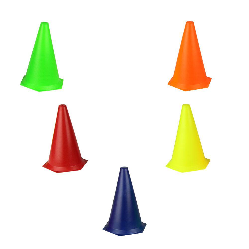 Kit com 5 Cones Flexíveis para Circuito Agilidade - 24 cm - Pentagol