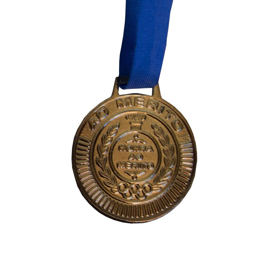Kit de 10 Medalhas com Fita - Bronze - 4450- Futebol / Volei / Artes Marciais - 50mm- Rema