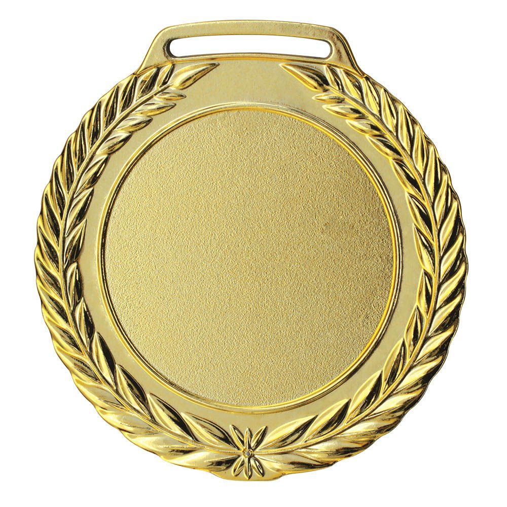 Kit de 5 Medalhas de Ouro com Fita Cetim - mod75002 - Futebol / Volei / Artes Marciais - 75mm- Vitória  - Loja do Competidor