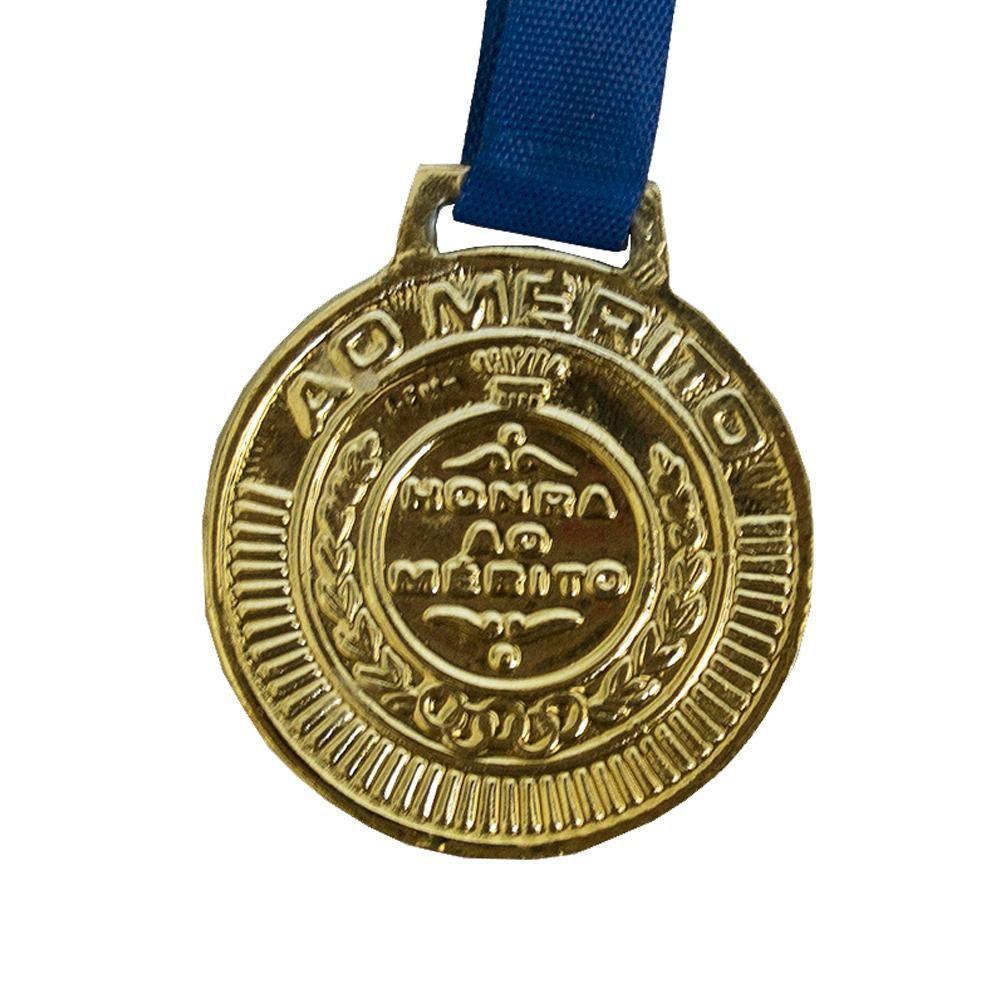 Kit de 5 Medalhas com Fita - Ouro- 4450- Futebol / Volei / Artes Marciais - 50mm- Rema  - Loja do Competidor