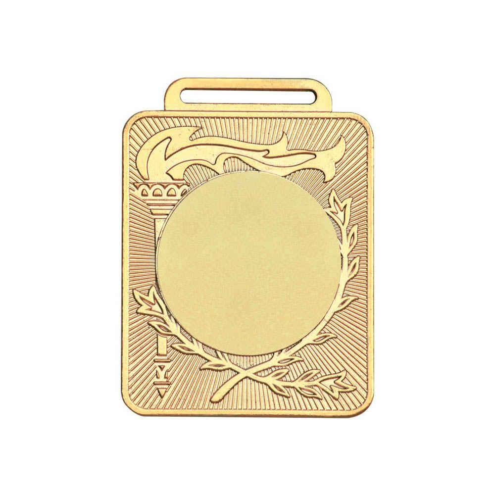 Kit de 3 Medalhas Retangulares com Fita Gorgurão - mod50600 - Ouro - 50mm- Vitória