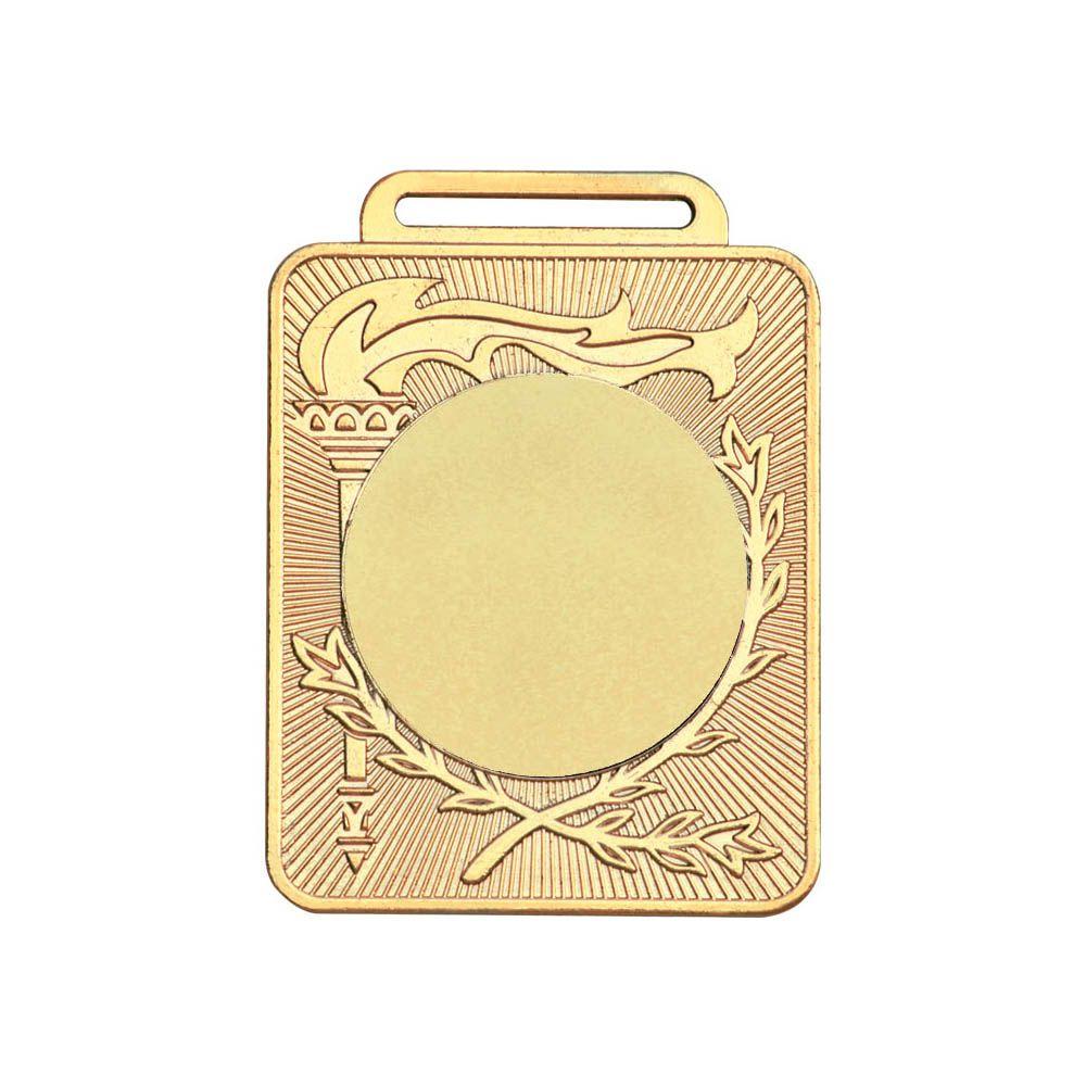 Kit de 3 Medalhas Retangulares com Fita Gorgurão - mod50600 - Ouro - 50mm- Vitória  - Loja do Competidor