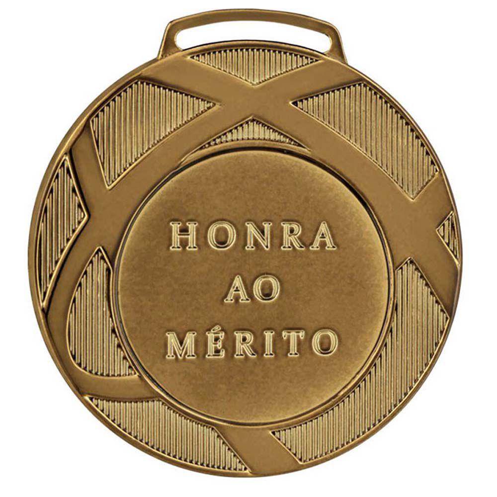 Kit de 5 Medalhas de Bronze com Fita Gorgurão - mod80001- Futebol / Volei / Artes Marciais - 80mm - Vitória